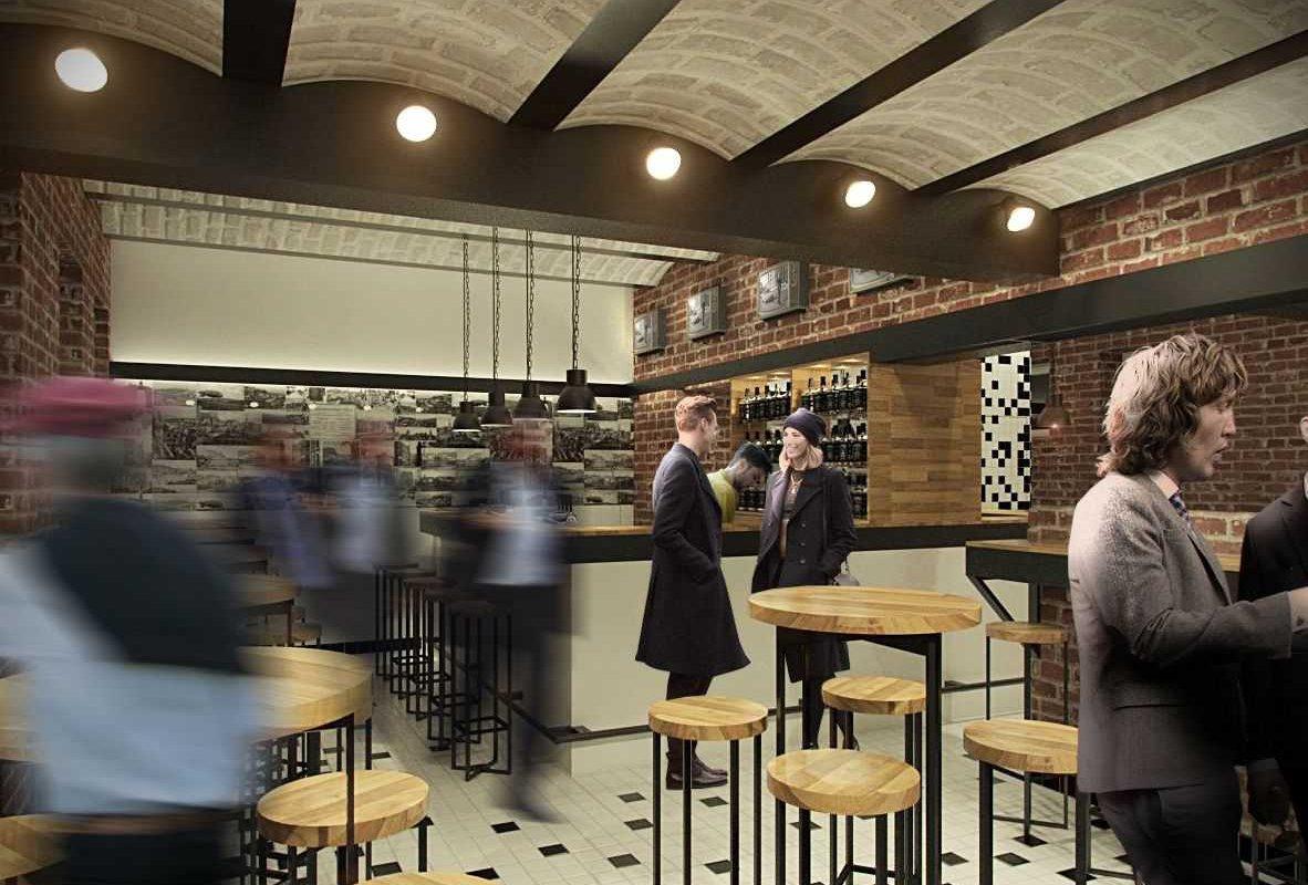 projekt wnętrz pubu bar
