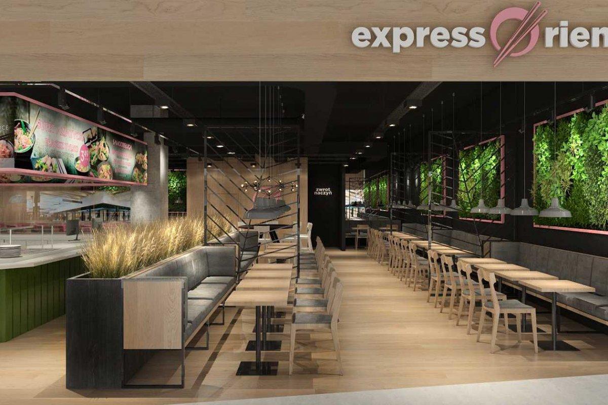 Projekt restauracji EXPRESS ORIENTAL Wrocław