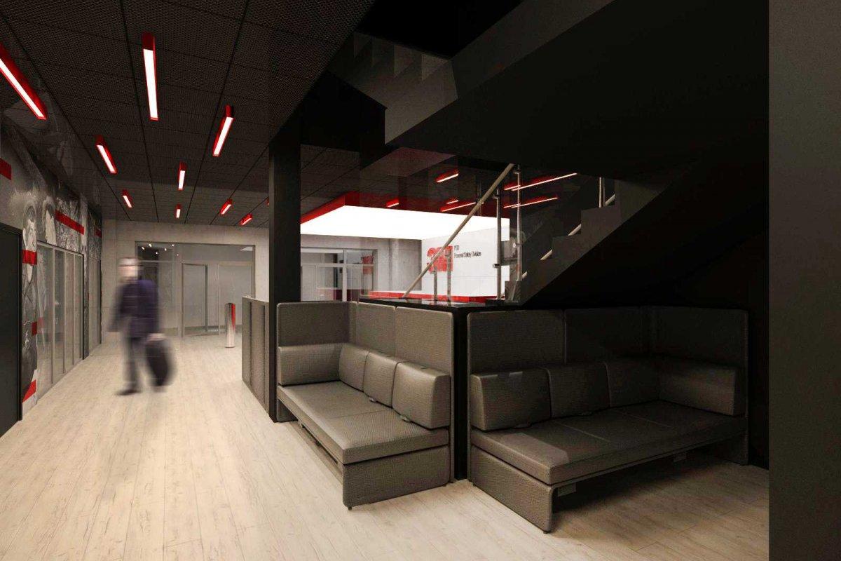 Projekt wnętrz biura firmy 3m, architekci wnętrz Wrocław, projektanci