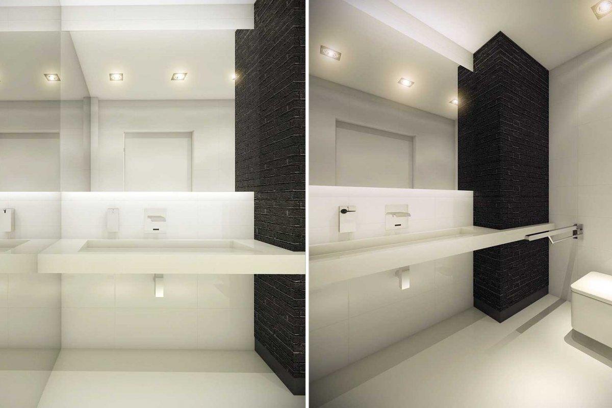Projekt wnętrz gabinetu stomatologicznego łazienka
