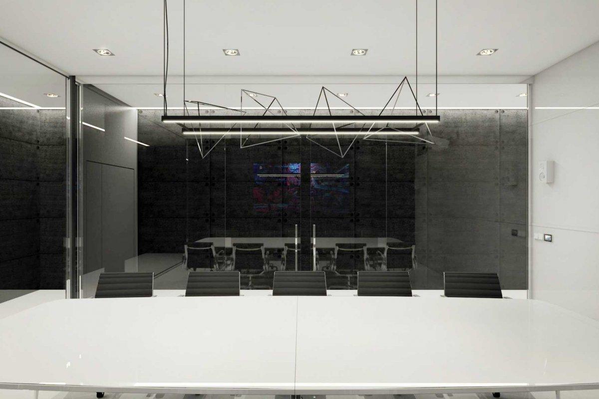 projekt wnętrz sali konferencyjnej