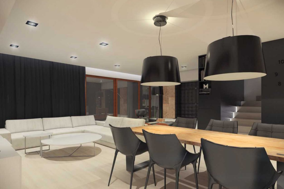 Projekt wnętrz domu jadalnia