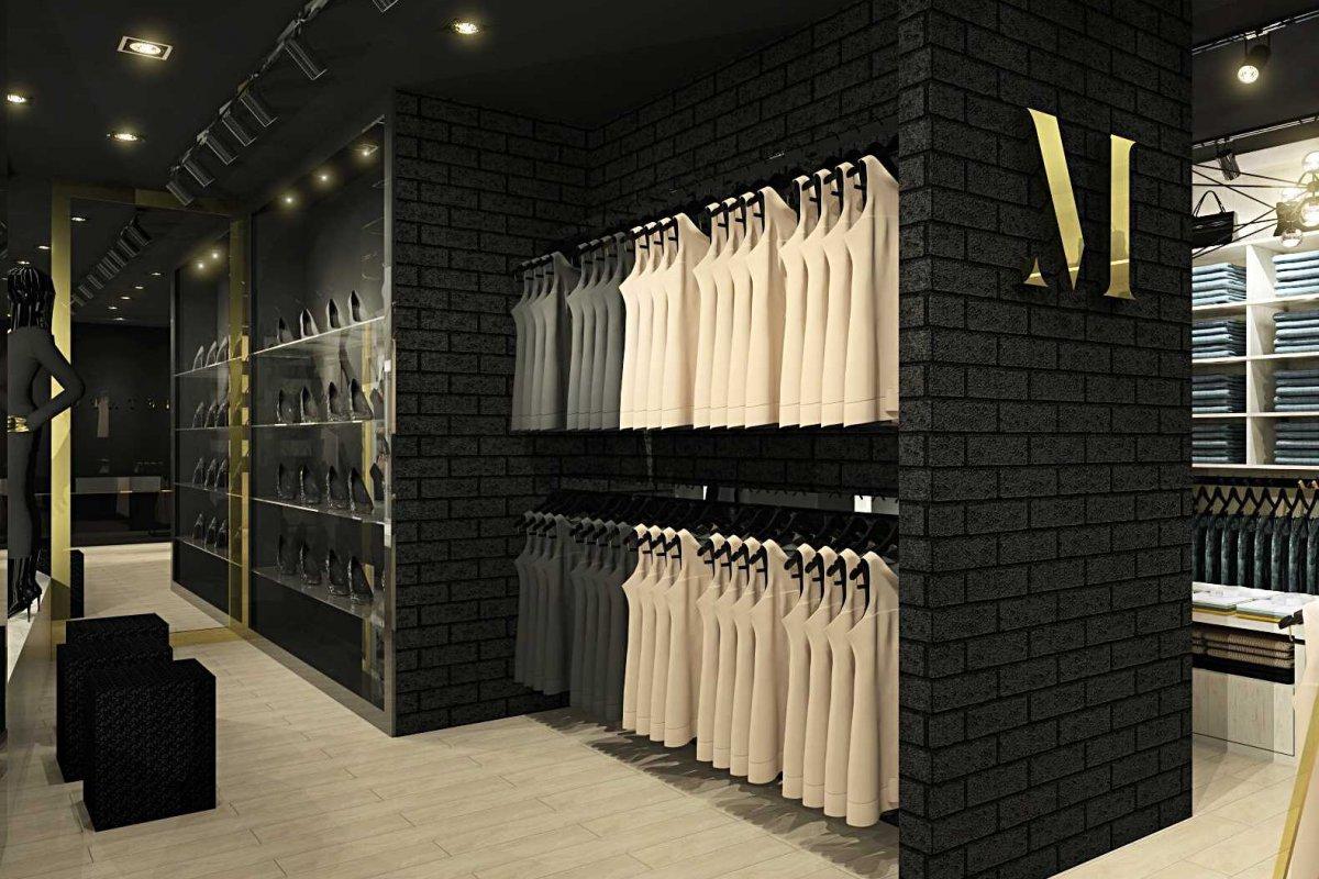 Projekt wnętrz sklepu odzieżowego