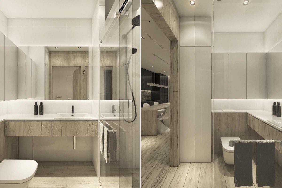 projekt wnętrz łazienki mieszkania we Wrocławiu