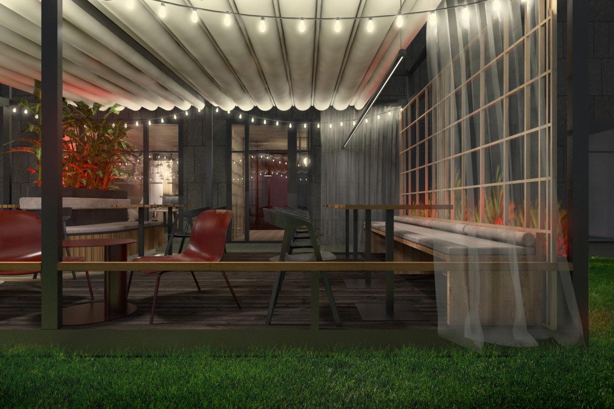 projekt wnętrz sushi baru we wrocławiu, projekt wnętrz gastronomii i ogródka projekt wnętrz sushi baru we wrocławiu, projekt wnętrz gastronomii i ogródka