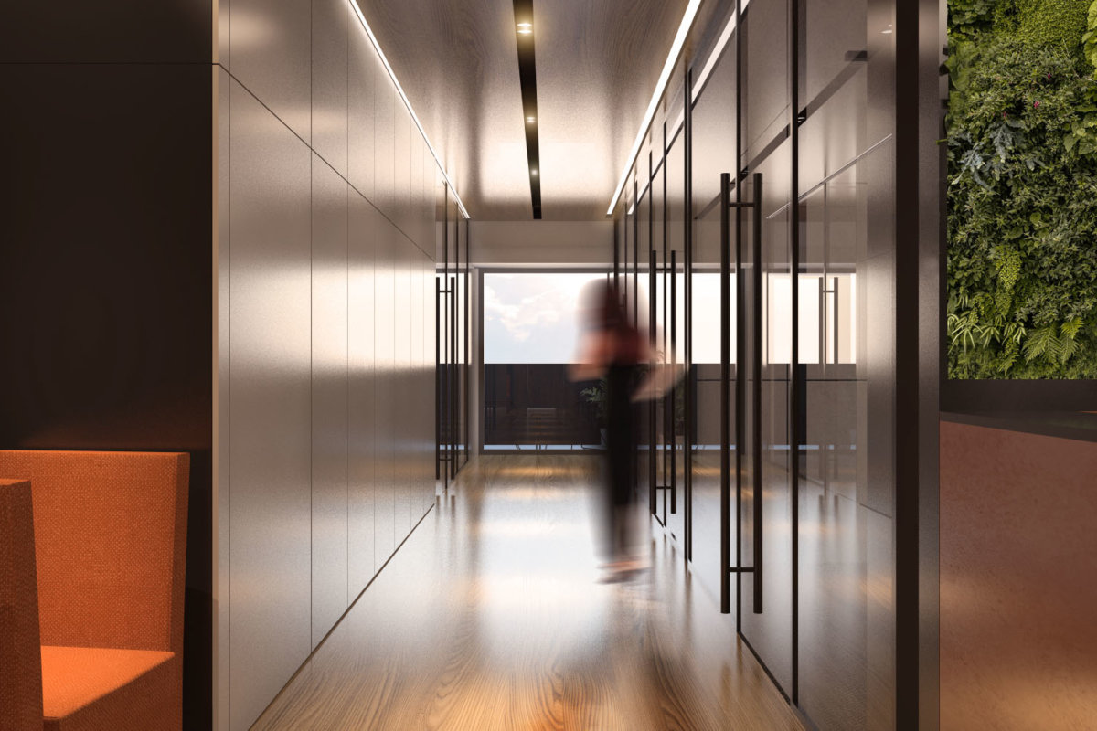 projekt biura we wrocławiu, projekt przestrzeni biurowej