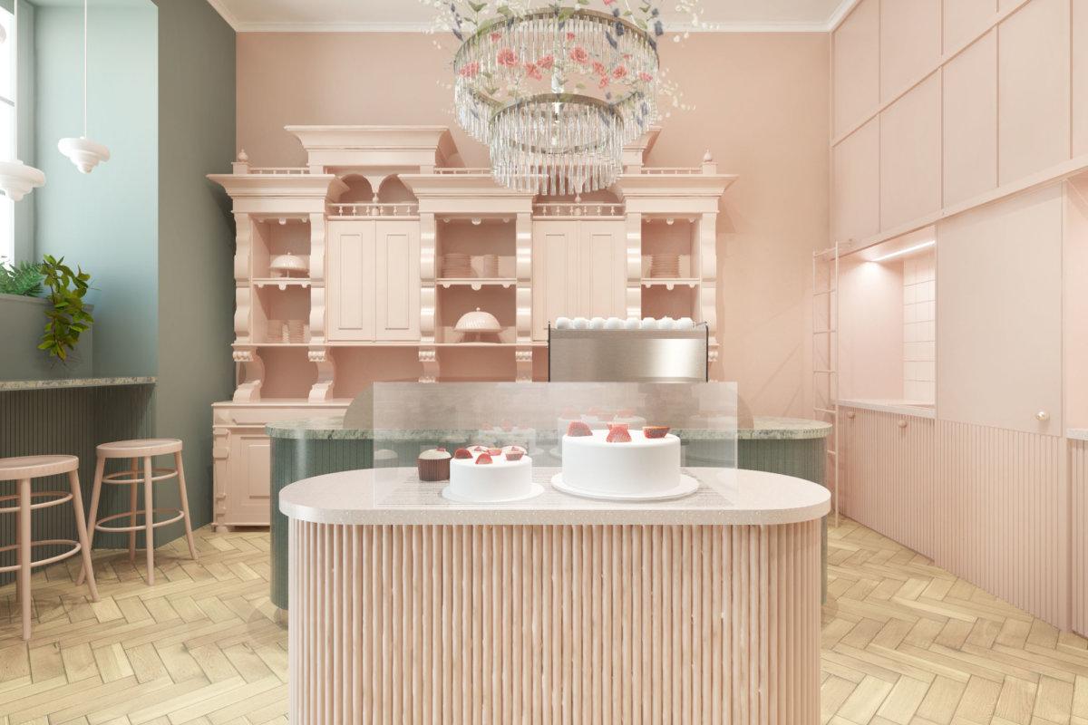 projekt wnętrz piekarni i kawiarni, projekt wnętrz gastronomii
