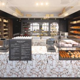 projekt wnętrz delikatesów we wrocławiu, projekt sklepu z żywnością