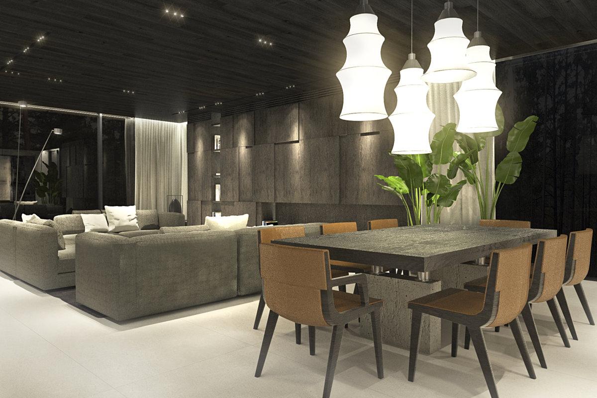 projekt wnętrz domu w warszawie, projekt wnętrz przestrzeni mieszkalnej