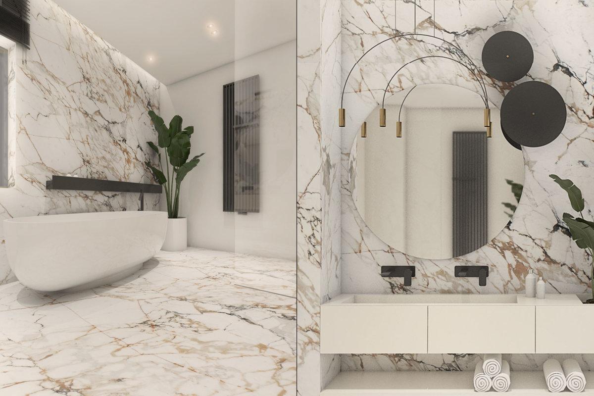 projekt wnętrz domu jednorodzinnego, projekt wnętrz przestrzeni mieszkalnej