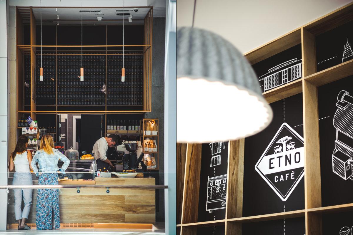 projekt wnętrz kawiarni etno cafe, prost wnętrz gastronomii