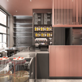 projekt wnętrz kawiarni starter cafe, projekt wnętrz gastronomii