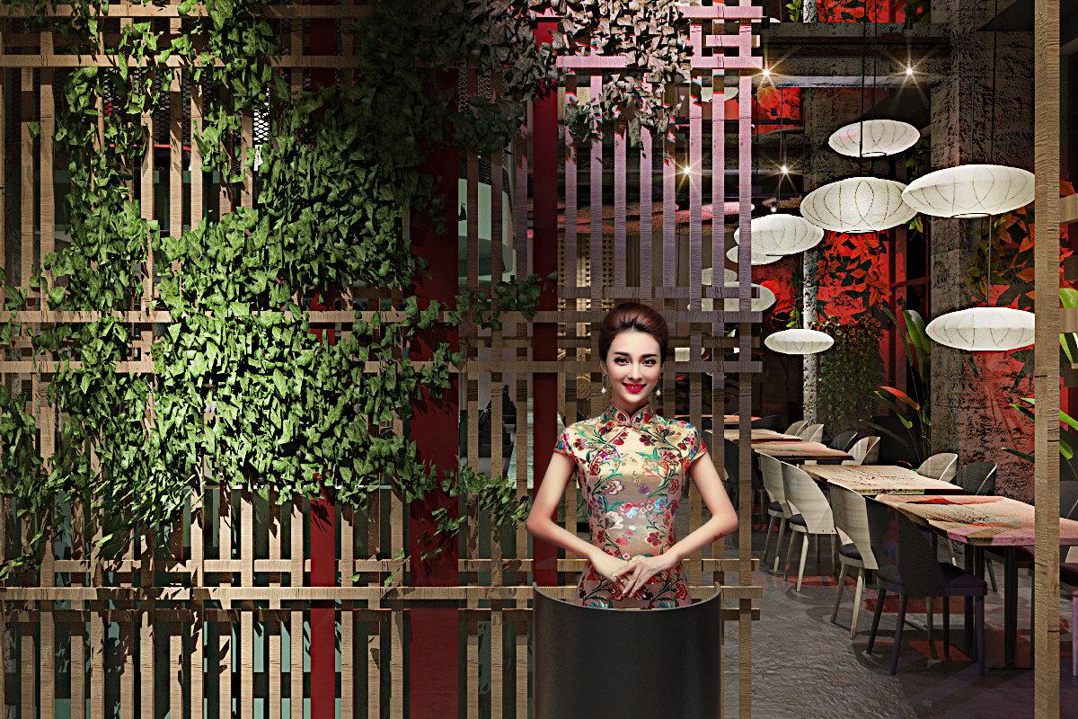 projekt wnętrz restauracji coco chang, projekt wnętrz gastronomiiprojekt wnętrz restauracji coco chang, projekt wnętrz gastronomii