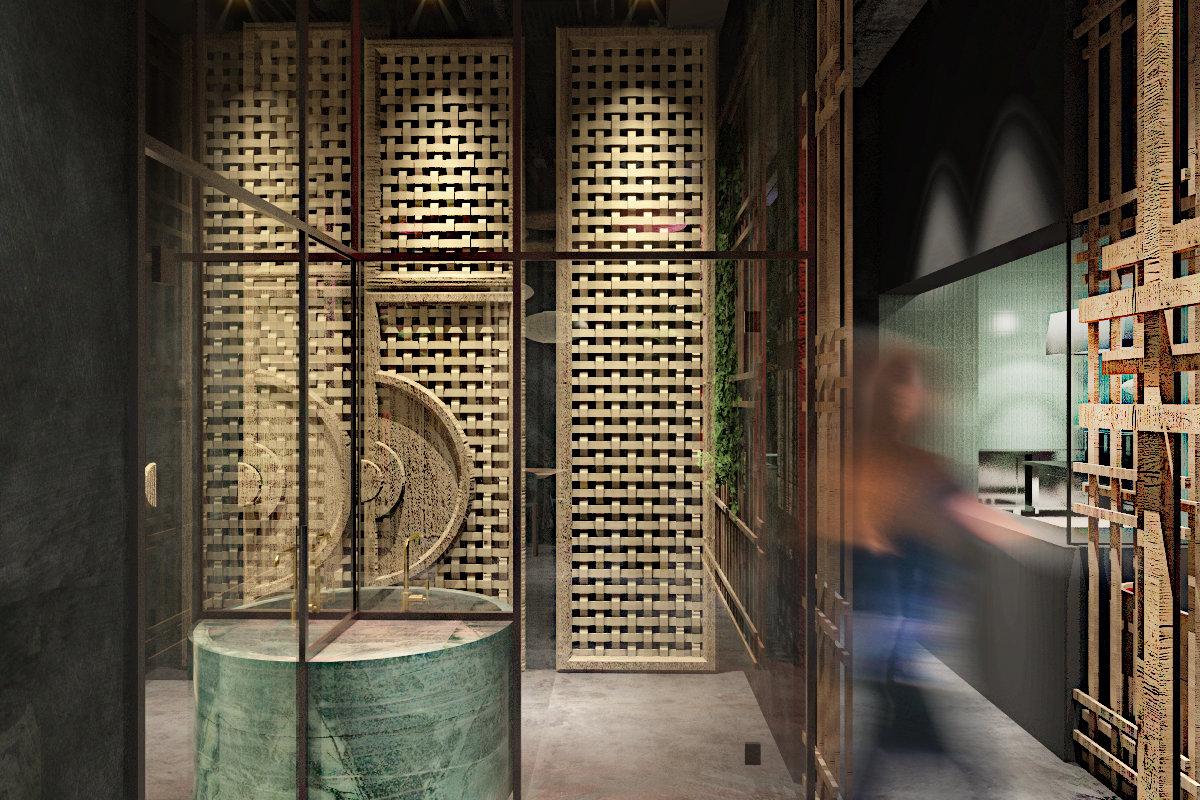 projekt wnętrz restauracji coco chang, projekt wnętrz gastronomii