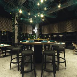 projekt wnętrz restauracji woothai, projekt lokalu gastronomicznego oraz sklepu