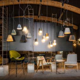 projekt wnętrz showroom firmy loftlight, projekt wnętrza sklepu z oświetleniem